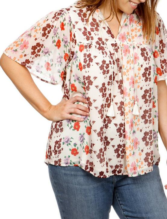 FLORAL TOP, MULTI, productTileDesktop