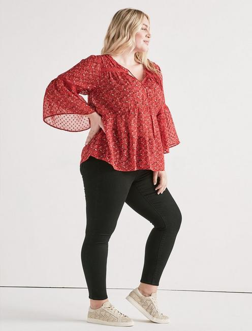 SWISS DOT DITSY TOP, MULTI