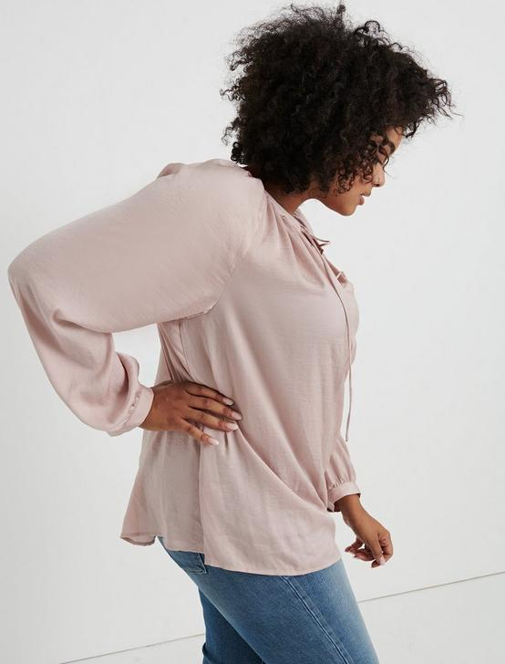PLEATED PEASANT TOP, BLUSH, productTileDesktop