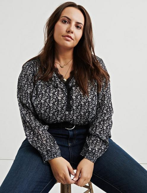 PRINTED EMBROIDERED POPOVER,