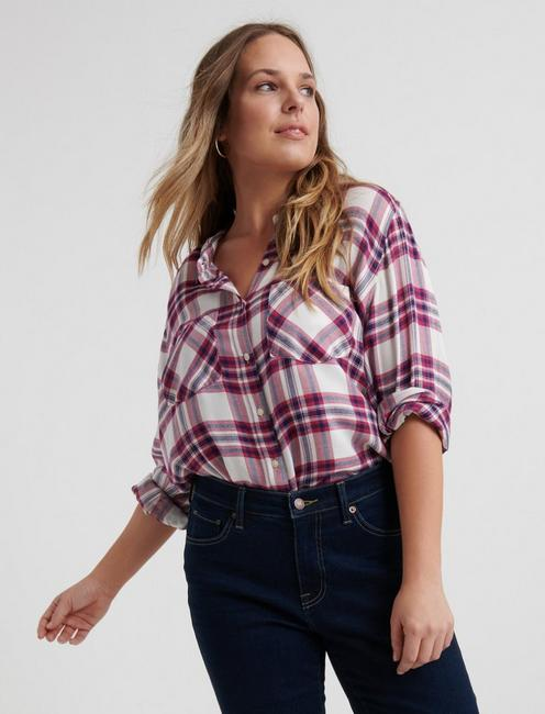 642a7f6cdea108 Plus Size Blouses and Button Downs