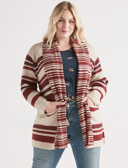 MULTI STRIPE CARDIGAN, MULTI