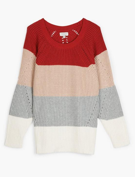 CREW NECK POINTELLE  SWEATER, MULTI, productTileDesktop