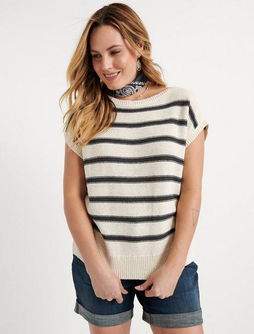 Stripe Short Sleeve Pullover