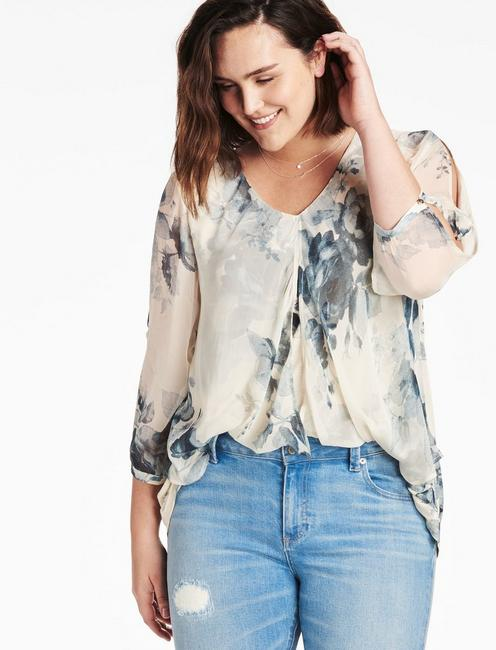 2a42b44adbdef4 ... OPEN FLORAL PRINTED TOP