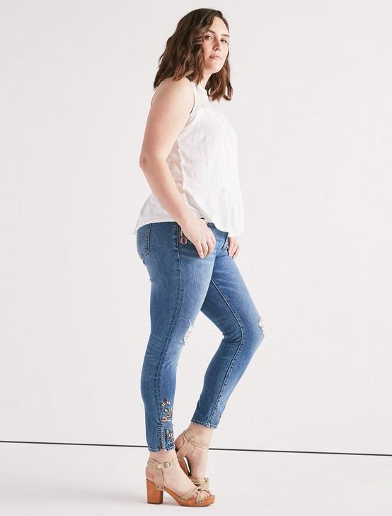 TIERED JACQUARD TANK, LUCKY WHITE, productTileDesktop