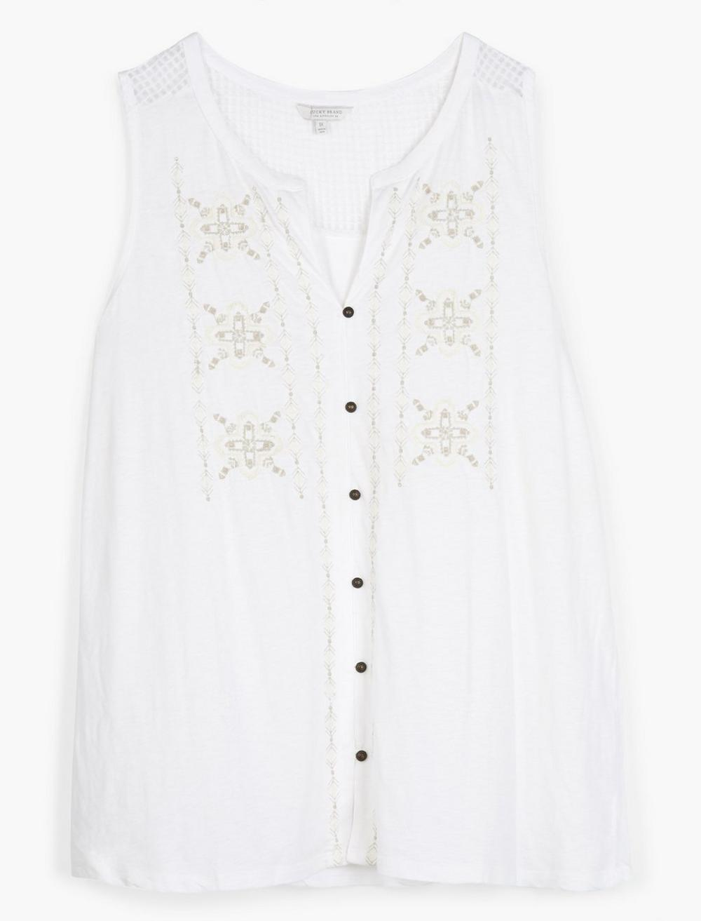 EMBROIDERED TANK, image 1