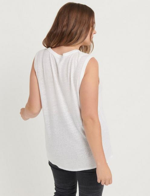 EMBROIDERED SHELL, LUCKY WHITE
