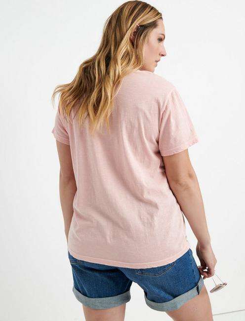 EMBROIDERED SOLID TEE, BLOSSOM
