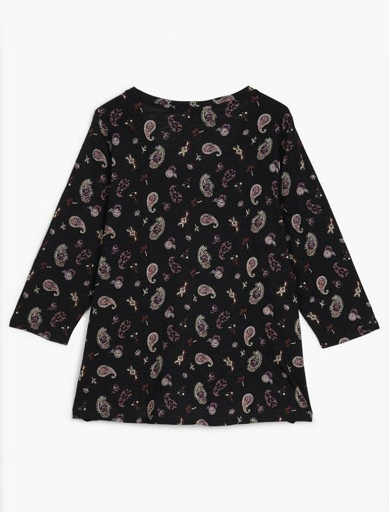 ALLOVER PAISLEY TEE, 001 LUCKY BLACK, productTileDesktop