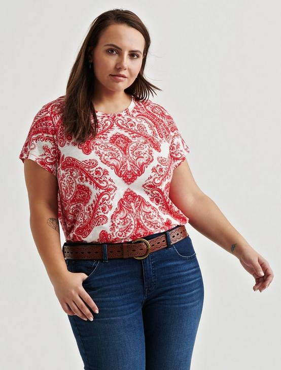 ALLOVER PRINT TEE, RED MULTI, productTileDesktop