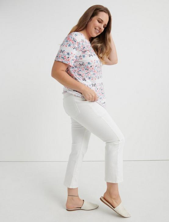 BOTANICALS PRINT TEE, WHITE MULTI, productTileDesktop