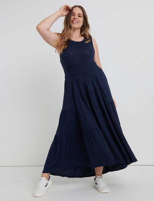 Lucky Ruched Maxi Dress