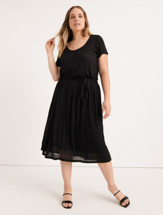 SCOOP NECK DRESS, 001 LUCKY BLACK, productTileDesktop