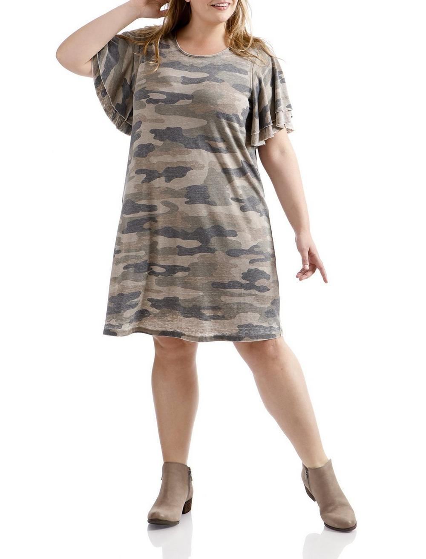 CAMO PRINTED DRESS, image 1