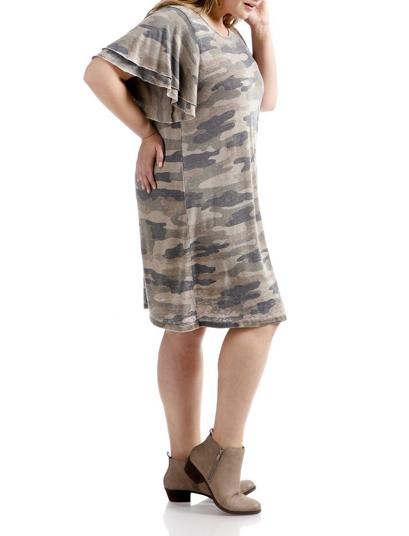 CAMO PRINTED DRESS, image 2