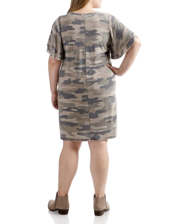 CAMO PRINTED DRESS, image 3