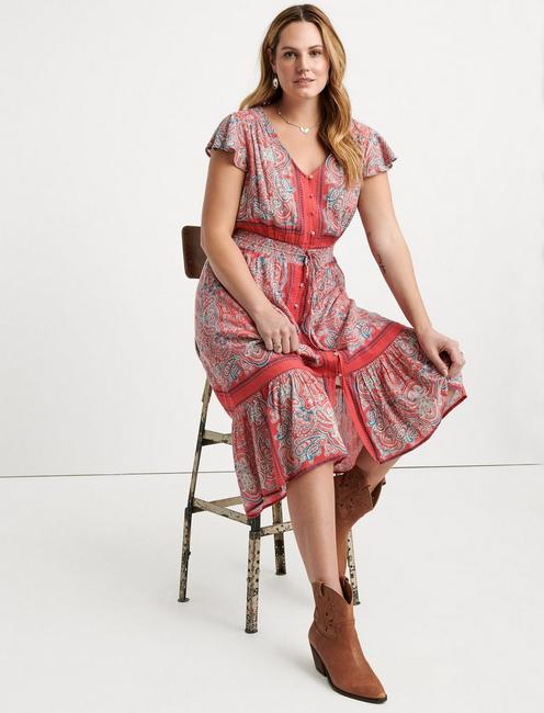Border Print Felice Dress