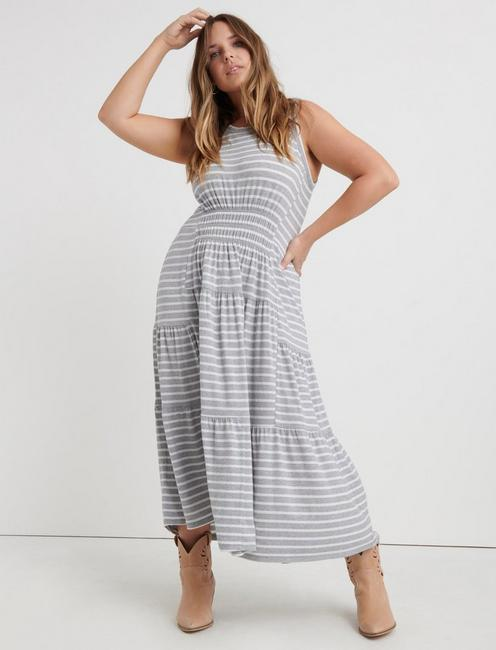 RUCHED MAXI DRESS,
