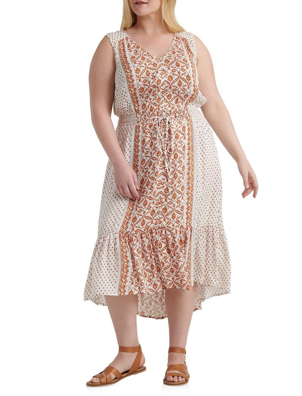 BORDER PRINT FELICE DRESS, image 1