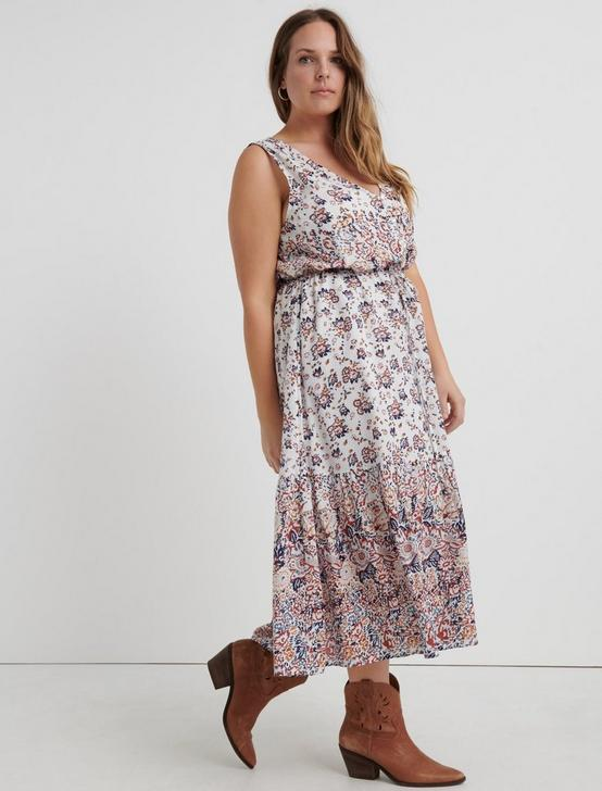 CHLOE DRESS, NATURAL MULTI, productTileDesktop