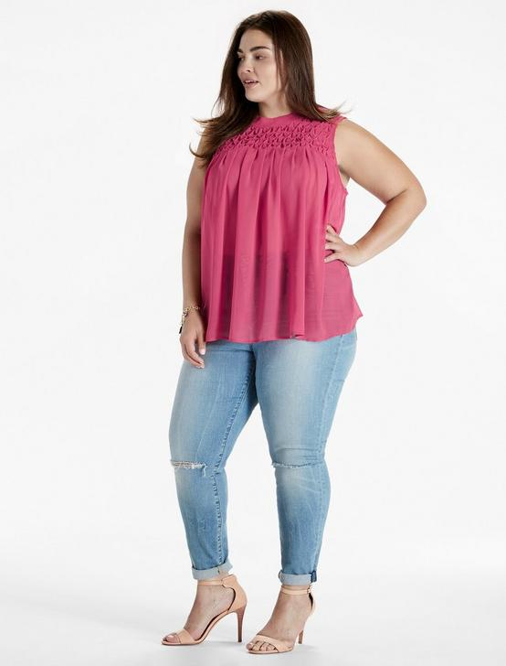 TUCKED YOKE TANK, BAROQUE ROSE, productTileDesktop