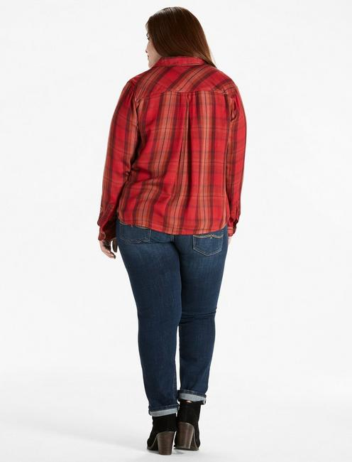 DUO FOLD PLAID SHIRT, RED MULTI