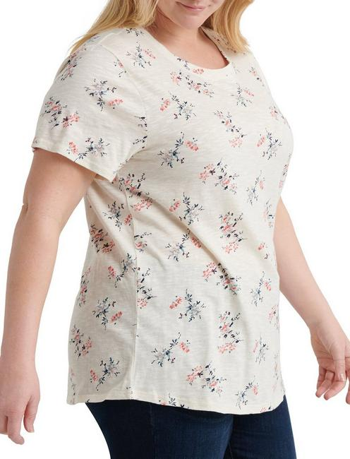 ALL OVER FLORAL TEE, WHITE MULTI