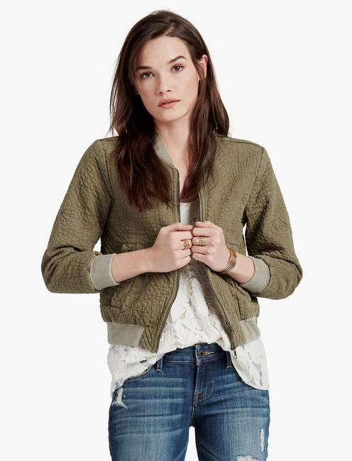 f10e896a0 Quilted Denim Bomber Jacket | Lucky Brand