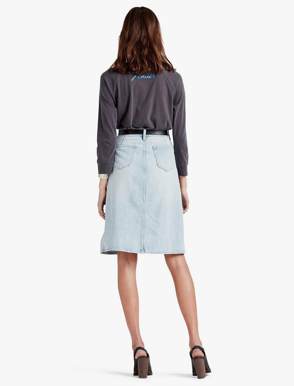HIGH RISE BUTTON FRONT SKIRT, image 3