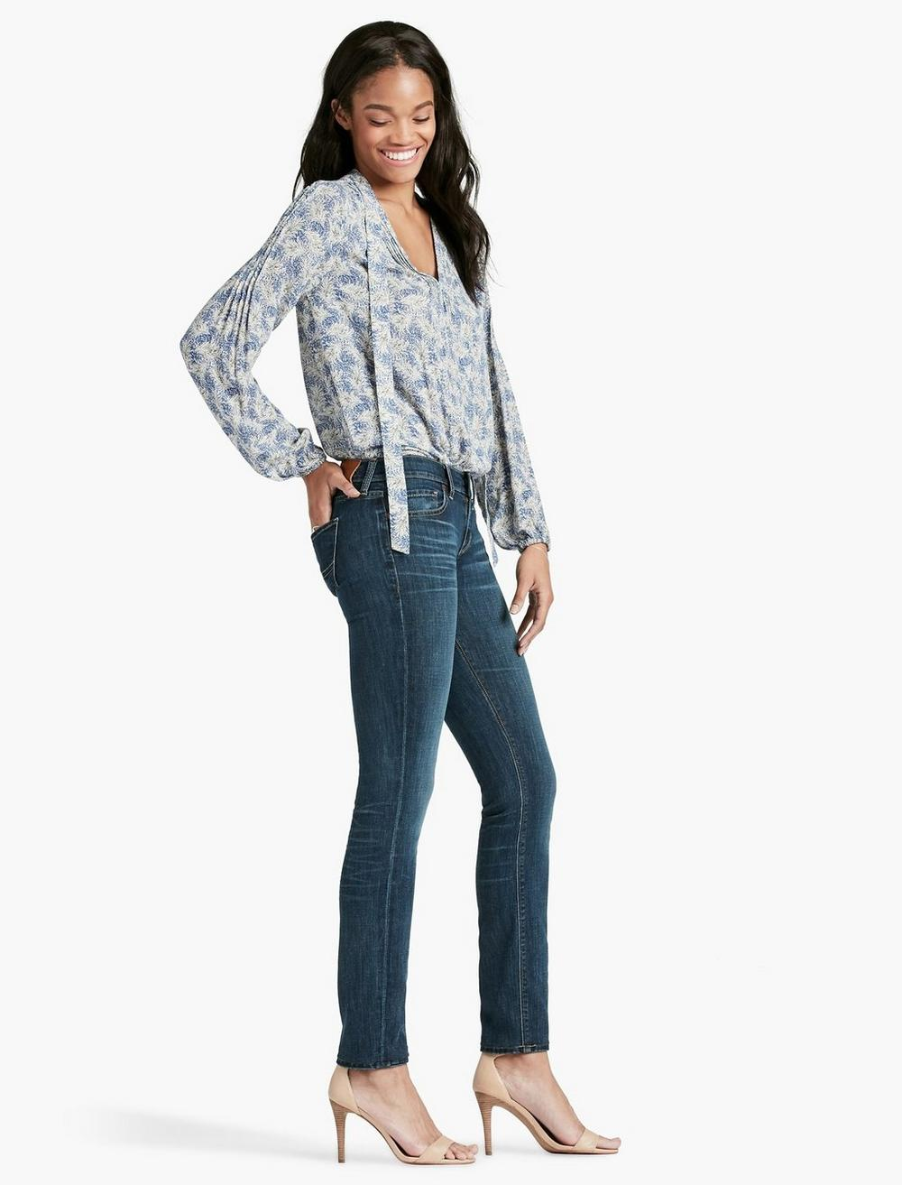 SOFIA MID RISE SKINNY JEAN IN BARRIER, image 2