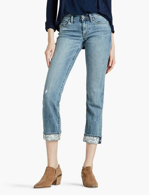 Jeans Women's Clothing Lucky Brand Jeans Size 14 Sweet N Crop Stretch Mid Rise Straight Womens