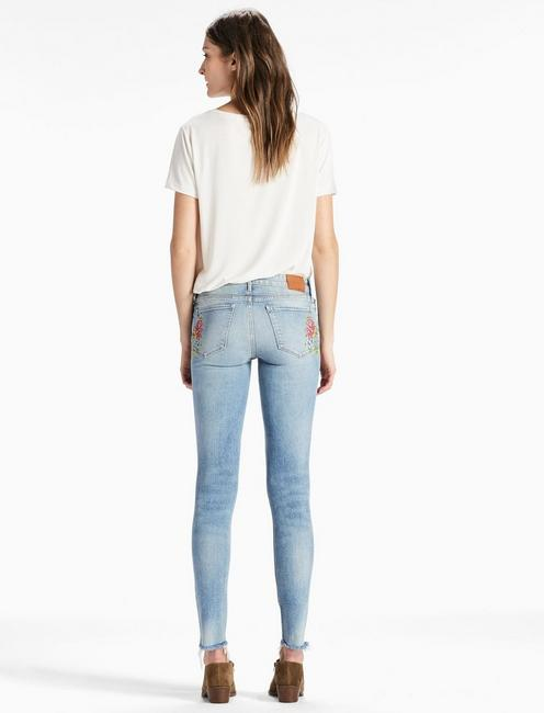 AVA MID RISE SKINNY JEAN WITH EMBROIDERY, GALLUP