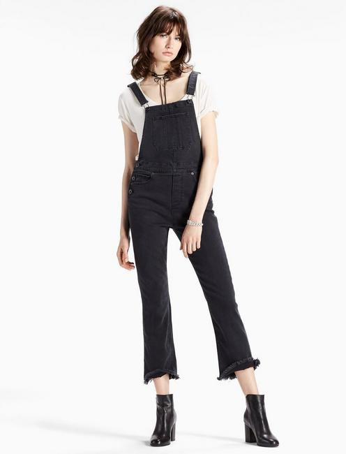 BRIDGETTE CROP FLARE DENIM OVERALL, BAKER