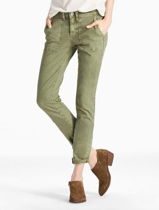 SIENNA MID RISE UTILITY PANT IN ARMY GREEN, ARMY GREEN, productTileDesktop