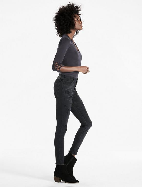 AVA SKINNY JEAN WITH VELVET FLOCKING, LA LUZ, productTileDesktop
