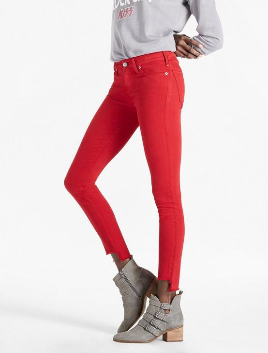 AVA MID RISE SKINNY JEAN, STEP FRAY RIO RED, productTileDesktop