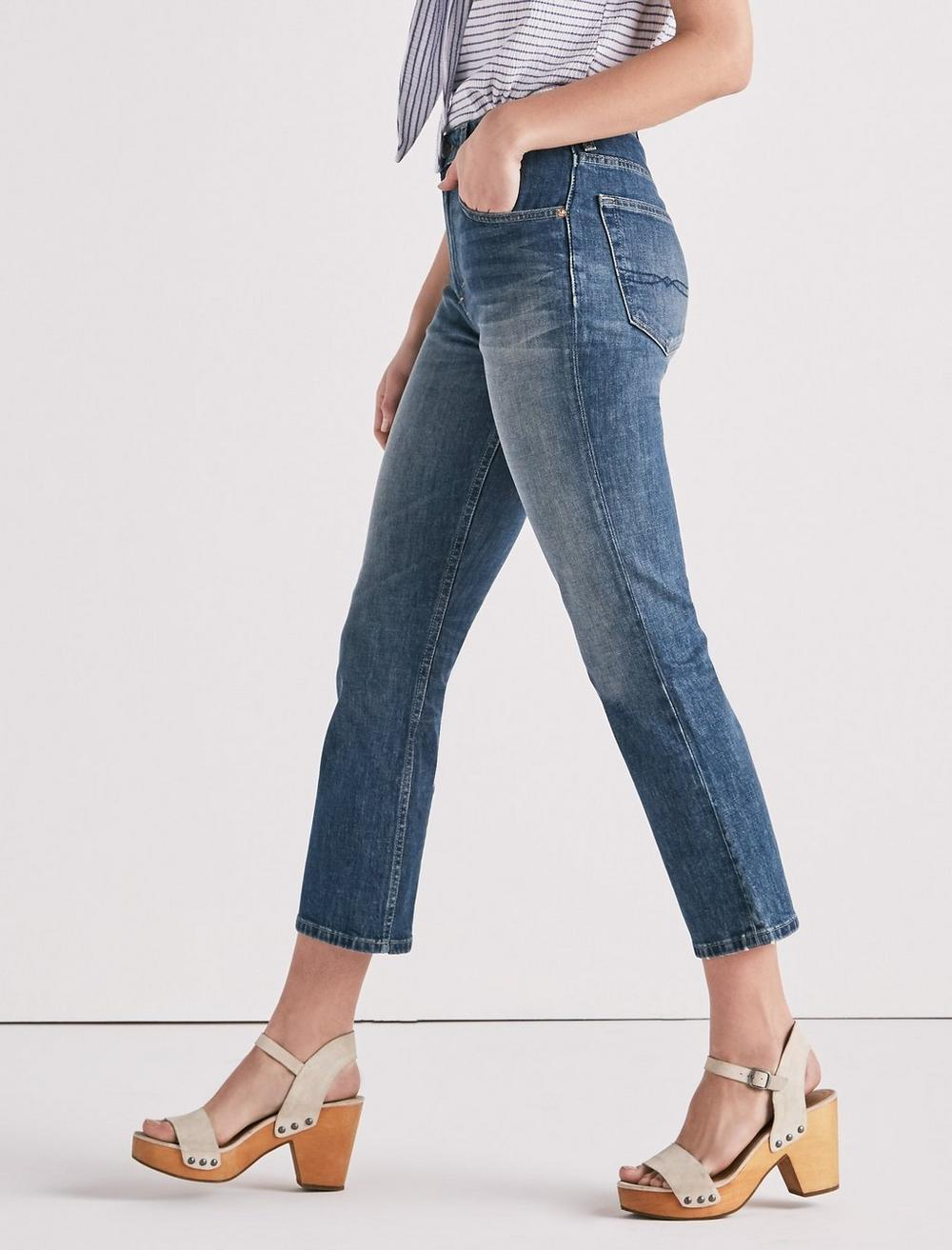 LUCKY PINS HIGH RISE CROPPED JEAN, image 1