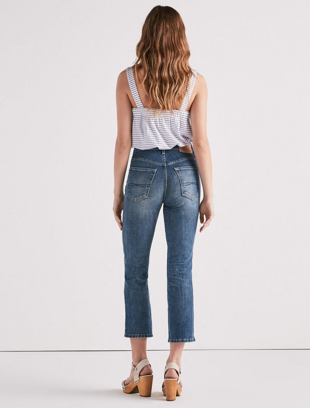LUCKY PINS HIGH RISE CROPPED JEAN, image 3