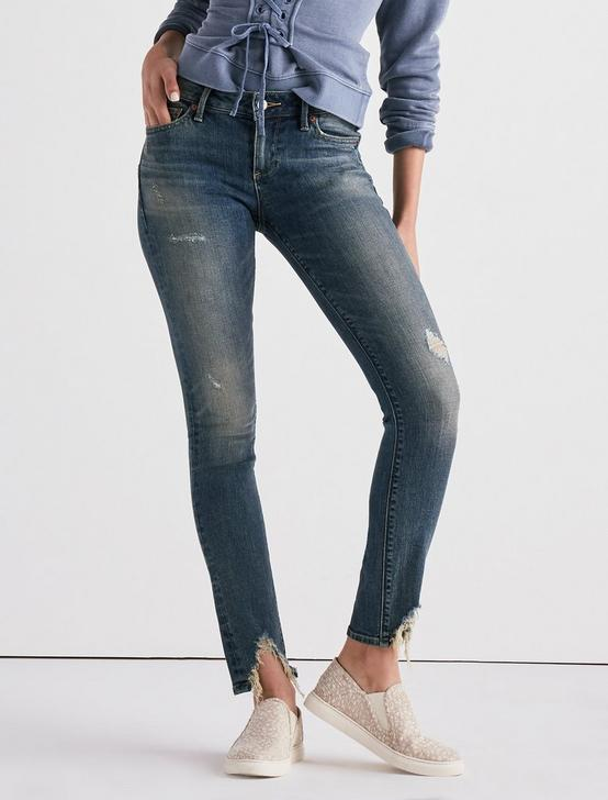LOLITA MID RISE SKINNY JEAN WITH FRONT CHEW, CHAPPARRAL, productTileDesktop