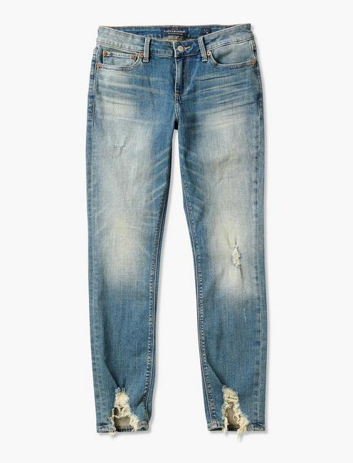 LOLITA MID RISE SKINNY JEAN WITH FRONT CHEW, CHAPPARRAL