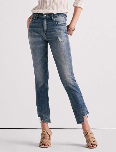 HIGH RISE TOMBOY JEAN WITH SIDE STEP HEM, CLOVIS