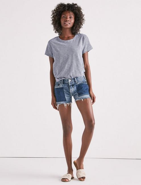 BOYFRIEND DENIM SHORT WITH TIE, SIDNEY