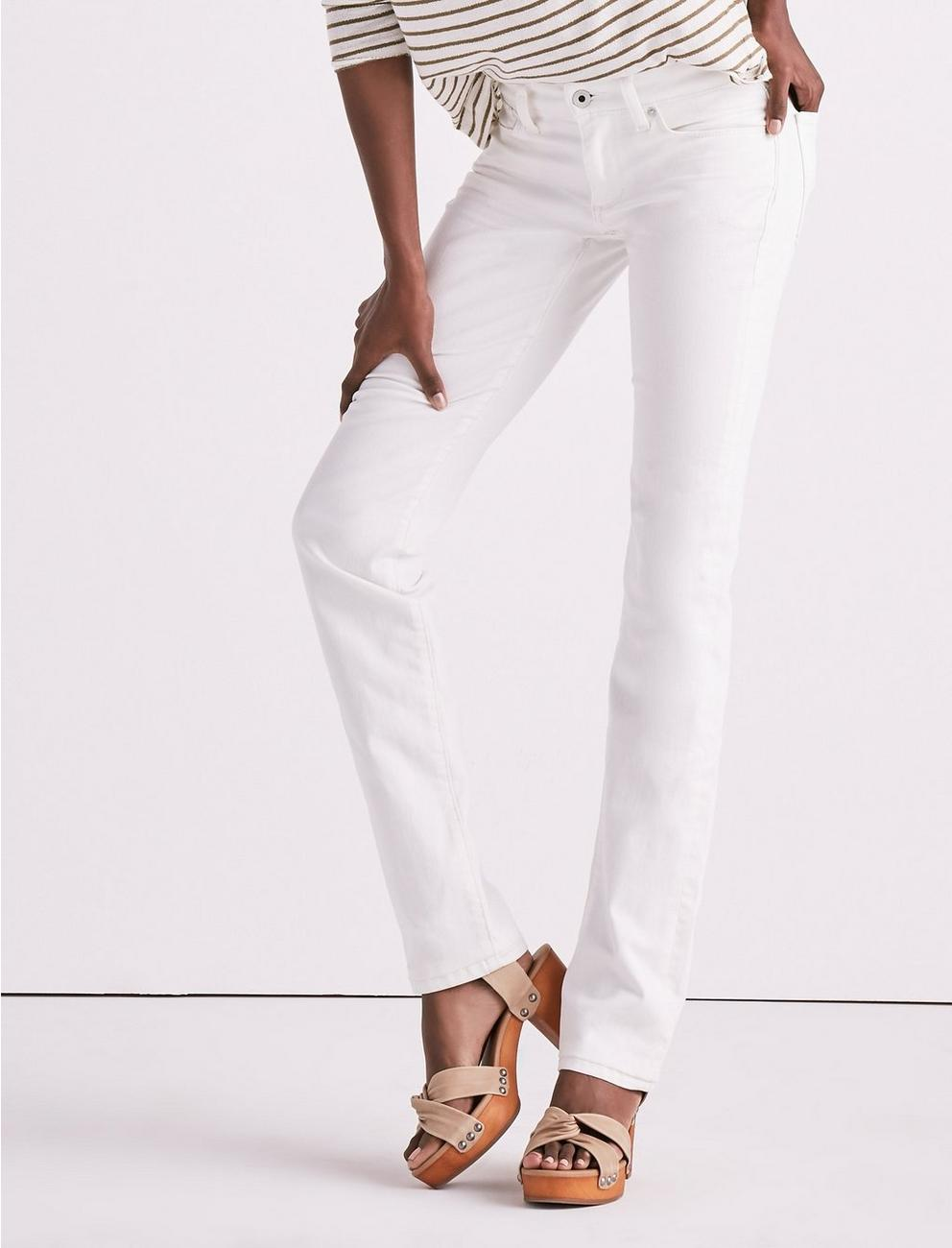 MID RISE SWEET STRAIGHT JEAN, CREMA
