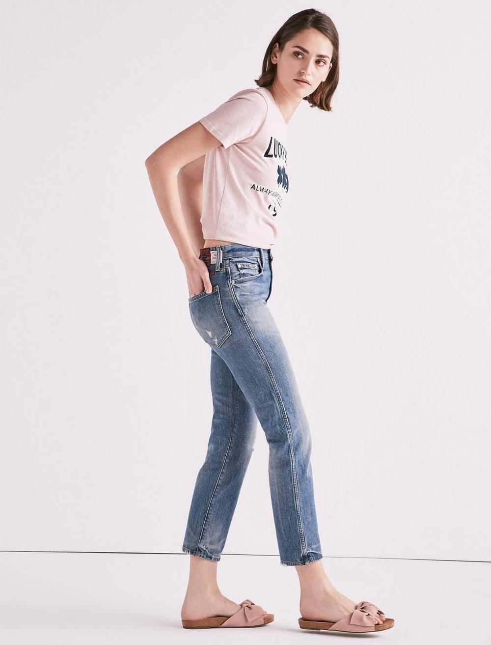MADE IN L.A. LUCKY PINS HIGH RISE JEAN IN WILKINS, image 1