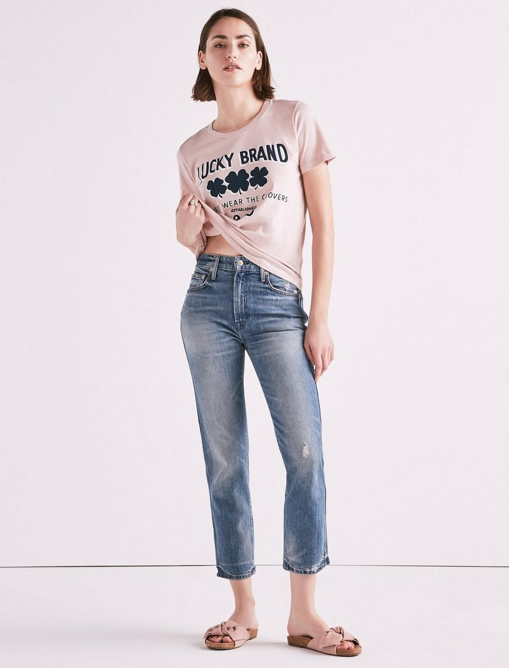 MADE IN L.A. LUCKY PINS HIGH RISE JEAN IN WILKINS, image 2