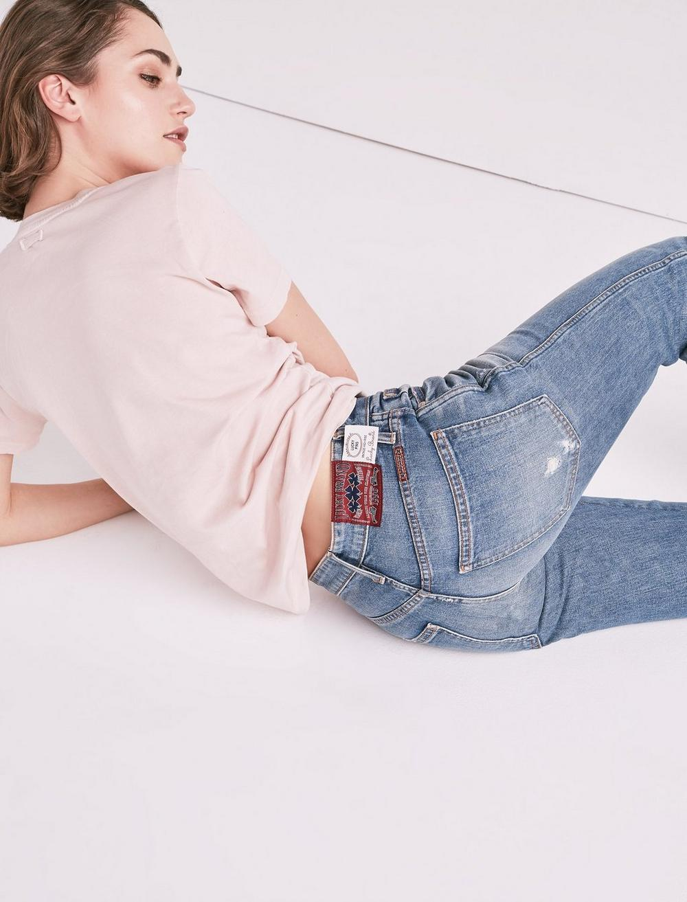 MADE IN L.A. LUCKY PINS HIGH RISE JEAN IN WILKINS, image 4