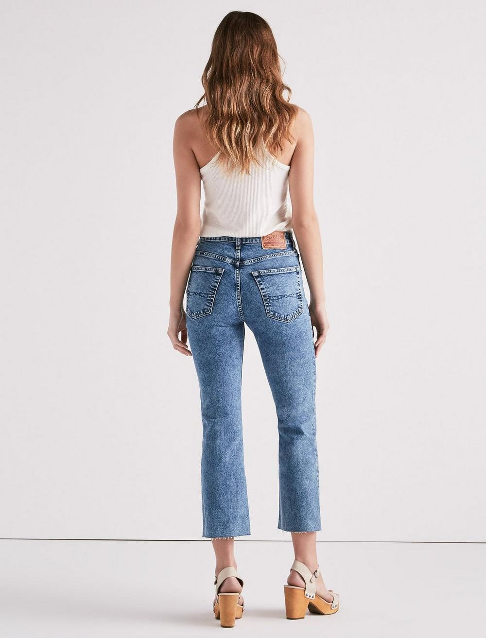 LUCKY PINS HIGH RISE CROPPED JEAN WITH EMBROIDERY, image 2