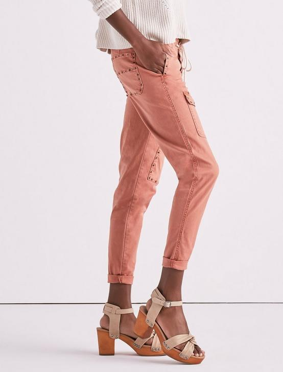 CARGO PANT WITH EYELETS, WASHED APRICOT, productTileDesktop