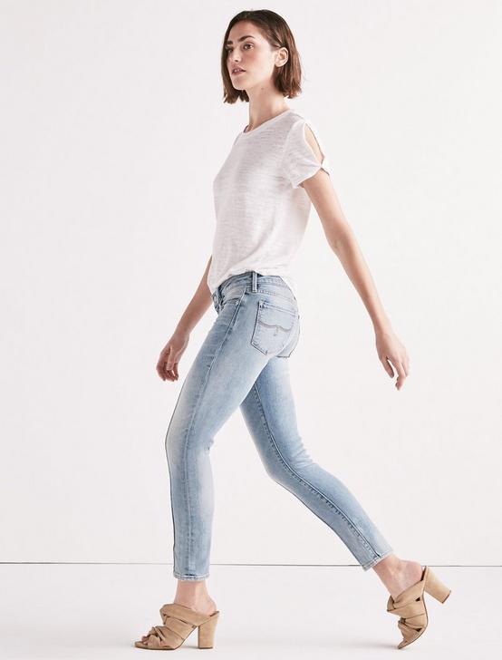 Lolita Mid Rise Skinny Jean With Pintuck, GLENNEN, productTileDesktop